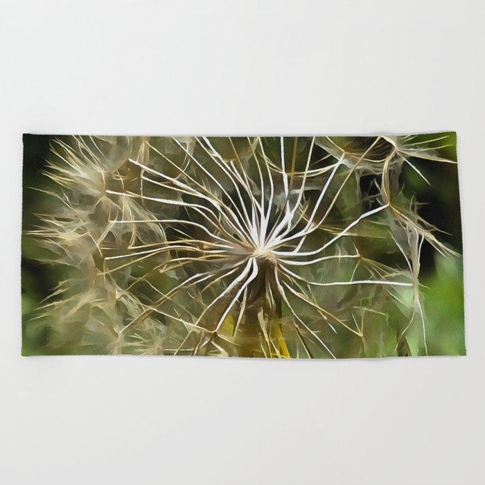 Tragopogon Wildflower Salsify Beach Towel