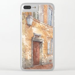 Sunny street watercolor illustration Clear iPhone Case