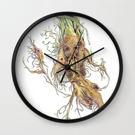 Spring Rhizome Wall Clock