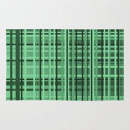 checkered Design green Rug
