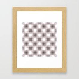 Twilight Mauve Polka Dots Framed Art Print