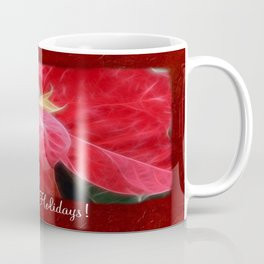 Mottled Red Poinsettia 2 Happy Holidays P5F1 Coffee Mug
