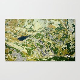 Mountain valley background Canvas Print