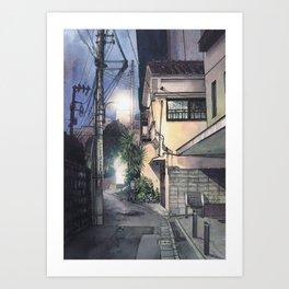 Tokyo at Night #09 Art Print