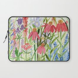Garden Flowers Watercolor Laptop Sleeve