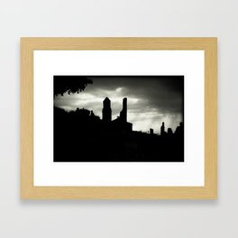 Poble vell de Corbera 1 Framed Art Print
