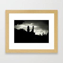 Poble vell de Corbera 1 Framed Art Print