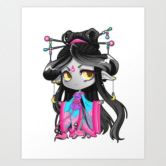 Chibi Luna Art Print
