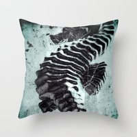 sea horse Throw Pillows featuring Sea Horse by Bella Blue Photography