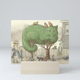 The Night Gardener - The Cat Tree Mini Art Print