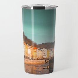Karlovy Vary cityscape Travel Mug