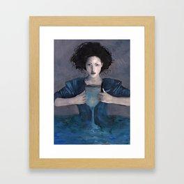 Hurricane Woman Framed Art Print