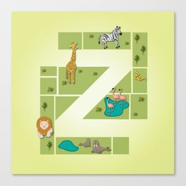 Z is for Zoo. Canvas Print