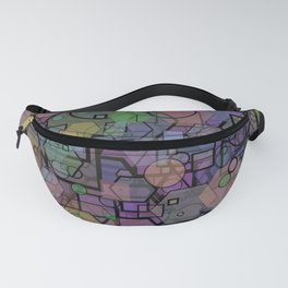 Hexagon Square Circle Modern Shape Collage Fanny Pack