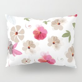 Cute soft spring pattern with flowers Pillow Sham