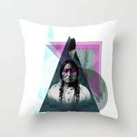 be brave Throw Pillows featuring Brave by Damon Davis