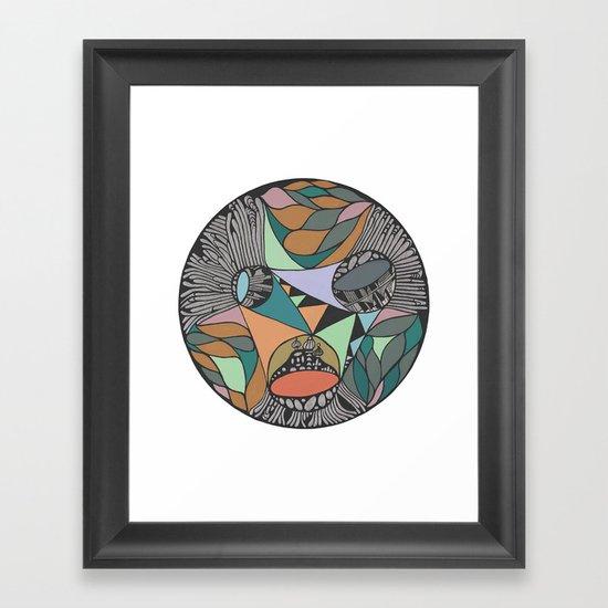Three Districts Framed Art Print