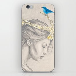 Glimmering gold crown iPhone Skin
