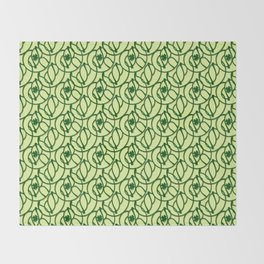 St. Patrick's Day Clovers Throw Blanket