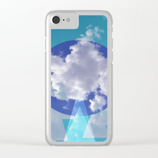 Clouds and Mountains II Clear iPhone Case