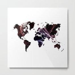 Fractal world map Metal Print