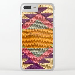 Aztec Knitting Pattern 04 Clear iPhone Case