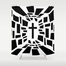 Christian Cross Shower Curtain