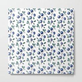 Blackthorn Blue Berries Metal Print