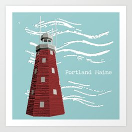 Portland Maine Observatory Art Print