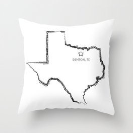 Denton, TX Throw Pillow