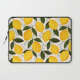 Mediterranean Summer Lemons Pattern Laptop Sleeve