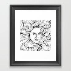 hair swallow Framed Art Print