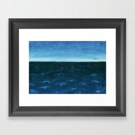 Night sea Framed Art Print