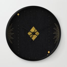 Ace of Diamonds - Golden cards Wall Clock