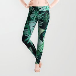 Botanic jungle leaf pattern Leggings