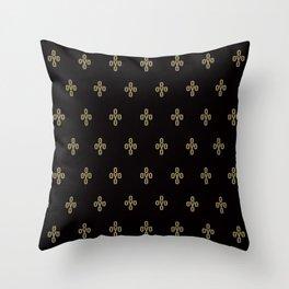 Pom Pom - Black Throw Pillow