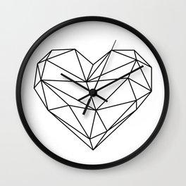 Empty Heart Wall Clock
