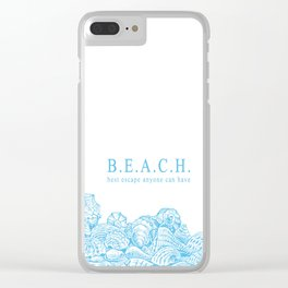BEACH- Best escape anyone can have - Mix & Match with Simplicity of Life Clear iPhone Case