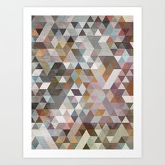 Triangles Pastel Art Print