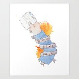 Weatherman Note Art Print