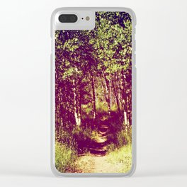 Narrow is the Path Clear iPhone Case