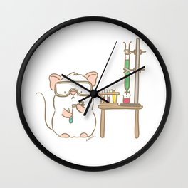 Lab Mouse Wall Clock