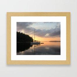 Sunset Lake Champlain Framed Art Print