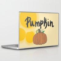 pumpkin Laptop & iPad Skins featuring pumpkin by gasponce