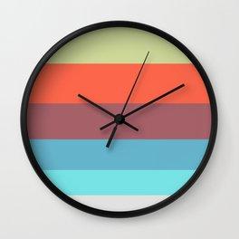 Pastel Blue & Pink Geometric Pattern Wall Clock