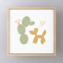 Love From Afar Framed Mini Art Print