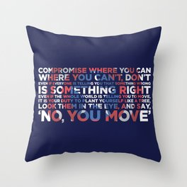 Civil War Quote Throw Pillow