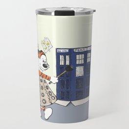 Playing Doctor and Daleks Travel Mug