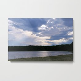 Walden Pond at Dusk 2 Metal Print