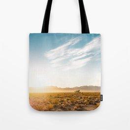 Nevada Desert Sunrise Tote Bag